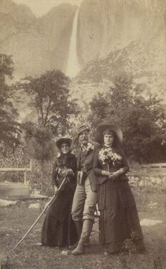 Historic photograph of Yosemite visitors in the 1880s taken by Gustav Fagersteen