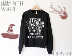 Harry Potter Sweater by SoEffingCute on Etsy, $45.00