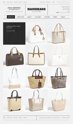 Handbag Boutique osCommerce Templates by Hermes