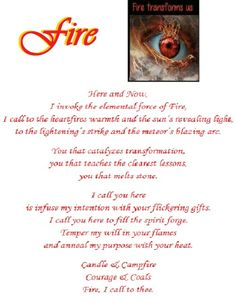 Element - Fire Wiccan Shops, Traditional Witchcraft, Wicca Witchcraft, Fire Element, I Call You, Spiritual Path, Magic Spells, Book Of Shadows, Spelling