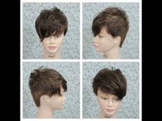 Female Short Haircut Tutorial - YouTube