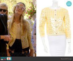 Chanel 3's yellow sequin jacket on Scream Queens. Outfit Details: https://wornontv.net/60607/ #ScreamQueens