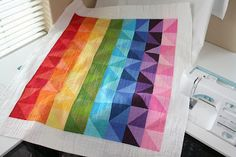 I Can Sew a Rainbow quilt by Emily @CrazyOldLadies