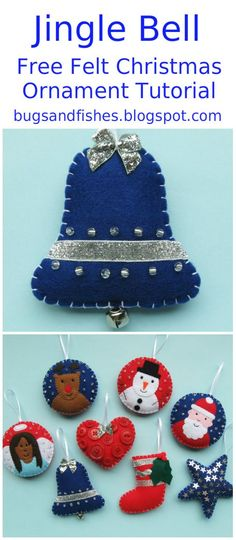 1000 images about felt on pinterest christmas trees for Jingle bell christmas ornament crafts