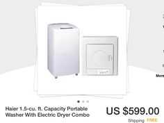 Small portable washer and dryer set www.ebay.com. $599.00