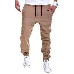 13b27e94d9 2018 New Brand Mens Khaki Pants Hip Hop Harem Joggers Pants Maleeticdr –  eticdress