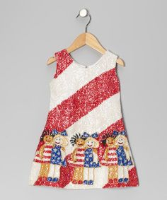 Take a look at this Red Sequin Stripe Girlfriend Dress - Toddler & Girls by Little Attitudes by Debra on #zulily today!