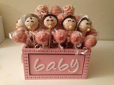 #cakspops #babyshower #girl #pink