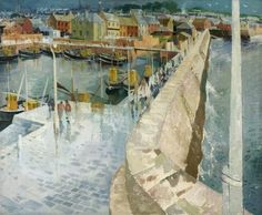 Arbroath Harbour, 1951 by Ian Fleming (1906-199?)