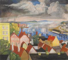Erich Heckel, Hafenausfahrt in Flensburg, 1930/1948, Auktion 891 Moderne Kunst, Lot 725