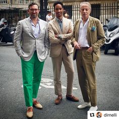 #Repost @dirnelli With @gillessamuel and Francois Ferdinand, the man behind the legendary brand @jkeydge the original #slackjacket, often copied but never equalled #ootd #outfitoftheday #wiwt #menswear #sartorial #mensweardaily #bespoke #sartorialist...