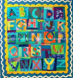 AReally nice, fun quilt.  For the recipient, anyway.  Maybe for the quilter, too?  Alphabet Quilt