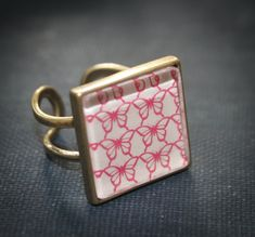 6 Ring bases - Square 21mm Blank Setting antique Bronze, silver plated, Vintage Adjustable - findings on Etsy, $6.95