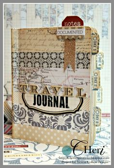 CHerInspirations: Stitched Journal book using Teresa Collins Far and Away