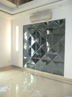 for living area, highlight 3d Tiles, Mirror Tiles, Mirror Art, Mirror Cabinet With Light, Modern Wall Units, Stained Glass Designs, Mirror Cabinets, Glass Wall Art, Wall Design
