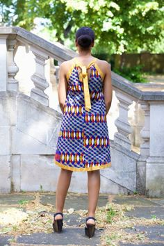 All the stylish Spring Ankara Print Outfits and latest short hairstyles, bridesmaids dresses and wedding guest outfit ideas Office Dresses For Women, African Dresses For Women, African Print Dresses, African Print Fashion, African Fashion Dresses, African Attire, African Wear, African Women, African Clothes