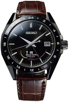 Grand Seiko Watch Spring Drive Sports Black Ceramic GMT Limited Edition…