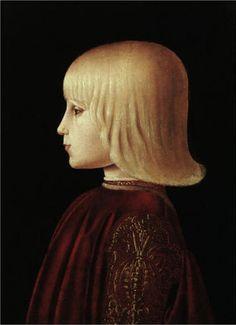 'Portrait of a boy' by Piero Della Francesca (1415-1492, Italy)