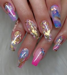 Are you looking for pretty nail design ideas? If so, check our collection of nail art images quickly! There are Coffin nails, French nails, and matte nails Cute Acrylic Nail Designs, Pretty Nail Designs, Best Acrylic Nails, Summer Acrylic Nails, Pretty Nail Art, Nail Art Designs, Clear Nail Designs, Nails Design, Stylish Nails