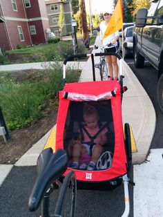 Colette's first bike ride! She loved it. Bike Trailer, Cargo Bike, Bike Stuff, Trailers, Love Her, Baby Strollers, Bicycle, Dogs, Design