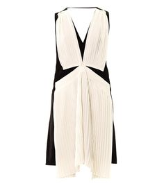 Holiday Dress: Vanessa Bruno Contrast Pleat Crepe Dress