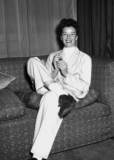 """I liked to look as if I didn't give a damn. I think you should pretend you don't care… but it's the most outrageous pretense. I said to Garbo once, 'I bet it takes us longer to look as if we hadn't made any effort than it does someone else to come in beautifully dressed.""  Katharine Hepburn"