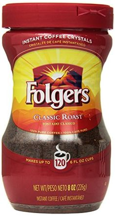 Folgers Classic Roast Instant Coffee, 8 Ounce (Pack of 3) Folgers http://www.amazon.com/dp/B004AE1FHY/ref=cm_sw_r_pi_dp_rot9wb0DTTM4F
