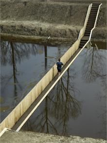 Moses Bridge, Fort du Roovere, Netherlands: RO Architects