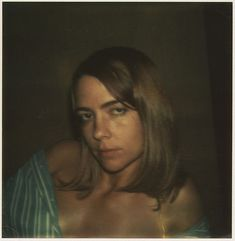 """Gay Burke, October 28, 1973 by Walker Evans """"Counter-aesthetic"""", from ASX """"As a collection, the Polaroids are remarkable in their consistent and determined attitude. They are bald presentations of individuals without mannerism or style and yet they are distinct, they are compelling, and their directness is palpable."""""""