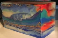 One of a kind art piece made out of soap.