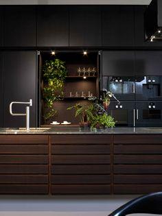 The iconic Form 1 / Smoked oak kitchen island. Kitchen Dinning, Farmhouse Kitchen Decor, Living Room Kitchen, New Kitchen, Kitchen Island, Modern Kitchen Design, Interior Design Kitchen, House Ceiling Design, House Design