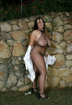 Chubby women in body stockings