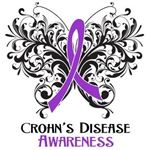 Crohns Disease Awareness Butterfly Ribbon Shirts