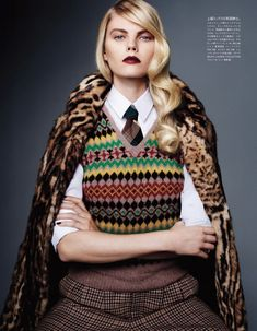 """Tailored For Her"": Maryna Linchuk: Vogue Japan December 2012: Sharif Hamza"