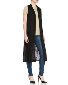 Essentials By Milano Sleeveless Burnout Duster