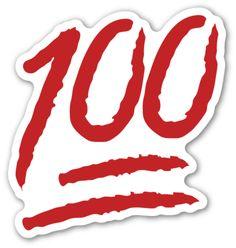 Hundred Points Symbol   EmojiStickers.com