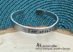 I Am Enough Cuff by JessicaBe on Etsy