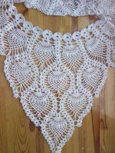 Craft: Exit the beach . - Rosa crochet -Sidney Craft: Exit the beach . Col Crochet, Crochet Lace Collar, Crochet Blouse, Crochet Motif, Crochet Shawl, Crochet Stitches, Knit Dress, Knitting Patterns, Crochet Patterns