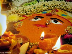 Durga pooja in homes during Navratri. Jay Shiurkar The Chakra puja or Yantra puja is the worship of the Goddess in a diagrammatic form. This type of worship exists in a lot of the parts of India during the festive season of #Navratri. #india #festival