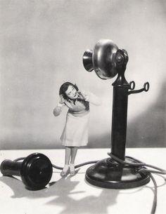 Joan Crawford and Giant Telephone, 1920's-30's. ☀