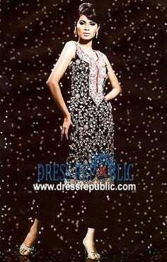 Jet Black Fretta, Product code: DR1298, by www.dressrepublic.com - Keywords: Salwar Kameez for EID, Salwar Kameez for Ramadan, Online Shop