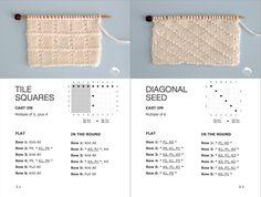 Knit Stitch Book: 50 Knit + Purl Patterns by Studio Knit Easy Knitting Patterns, Knitting Stitches, Knitting Designs, Knitting Projects, Stitch Patterns, Knitting Ideas, Knitting Help, Knitting Books, Stitch Book
