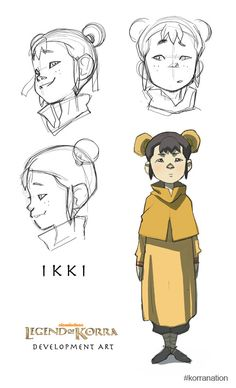 Aang + Katara = Tenzin   Tenzin + X = Adorable Ikki  If X = (Zuko + Mai) then the hair style makes sense and Zutara shippers may or may not be happy.  Avatar Math!