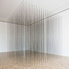 Impenetrable, 2009. Black finished steel, fishing wire; 300 x 300 x 300 cm. Galleria Continua, White Cube. Artist Mona Hatoum was born in 1952 in Beirut, Lebanon. Lives and works in London, United Kingdom, and Berlin, Germany. Images courtesy of Art Basel, Galleria Continua, White Cube Gallery.