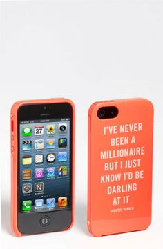kate spade new york millionaire quote iPhone 5 case