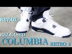 a38cd5e338fc23 Retail Released Retro Air Jordan 4 Legend Blue Columbia On Feet Review