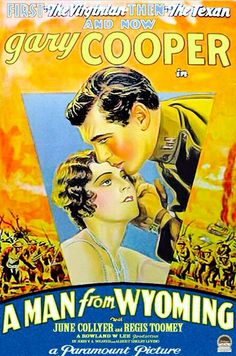 A MAN FROM WYOMING (1930) - Gary Cooper - Paramount - Movie Poster.