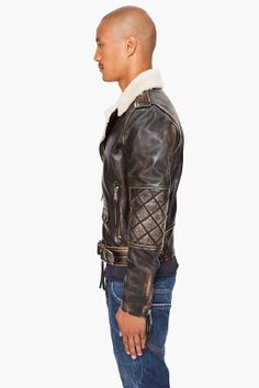 Shearling Leather Jacket. DSquared.