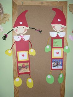 Elf for a letter to Santa Claus or a gift list, or wish you a Merry Christmas … - Ostern Paper Christmas Decorations, School Decorations, Christmas Elf, Christmas Crafts, Christmas Ornaments, Diy Arts And Crafts, Paper Crafts, Puppets For Kids, Winter Crafts For Kids