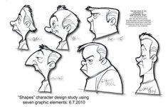 shapes and drawing Character Design Sketches, Character Design Cartoon, Cartoon Design, Character Design References, Character Drawing, Character Illustration, Cartoon Head, Cartoon Girl Drawing, Cartoon Faces